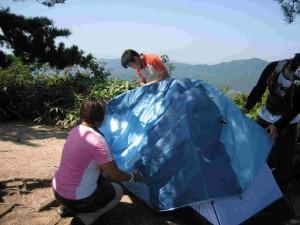 テント組たて