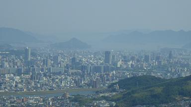 火山付近から見た中区方面