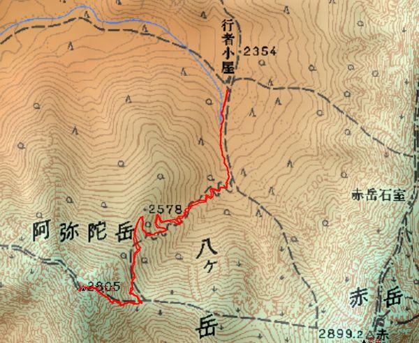 阿弥陀岳ルート1-1